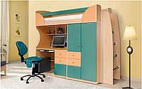 Детская кровать-чердак Комби