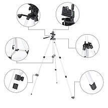 Штатив тренога для телефона, камеры, фотоаппарата 330А монопод, фото 3