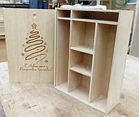 Подарочные деревянные коробки, ящики подарочные