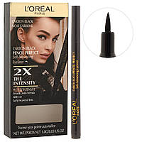 Подводка для век L'Oreal Carbon Black Pencil Perfect