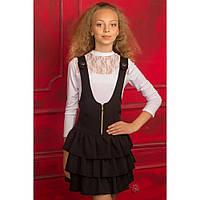 Нарядная белая школьная блуза для девочки