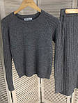 Костюм юбка и джемпер с узором трикотажа лапша ( 532 ) разные расцветки, фото 4