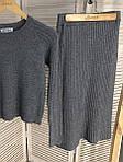 Костюм юбка и джемпер с узором трикотажа лапша ( 532 ) разные расцветки, фото 6