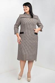 Деловое платье в мелкую клеточку