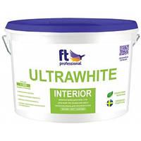 Краска латексная для стен и потолков FT Professional Ultrawhite Interior 10 л