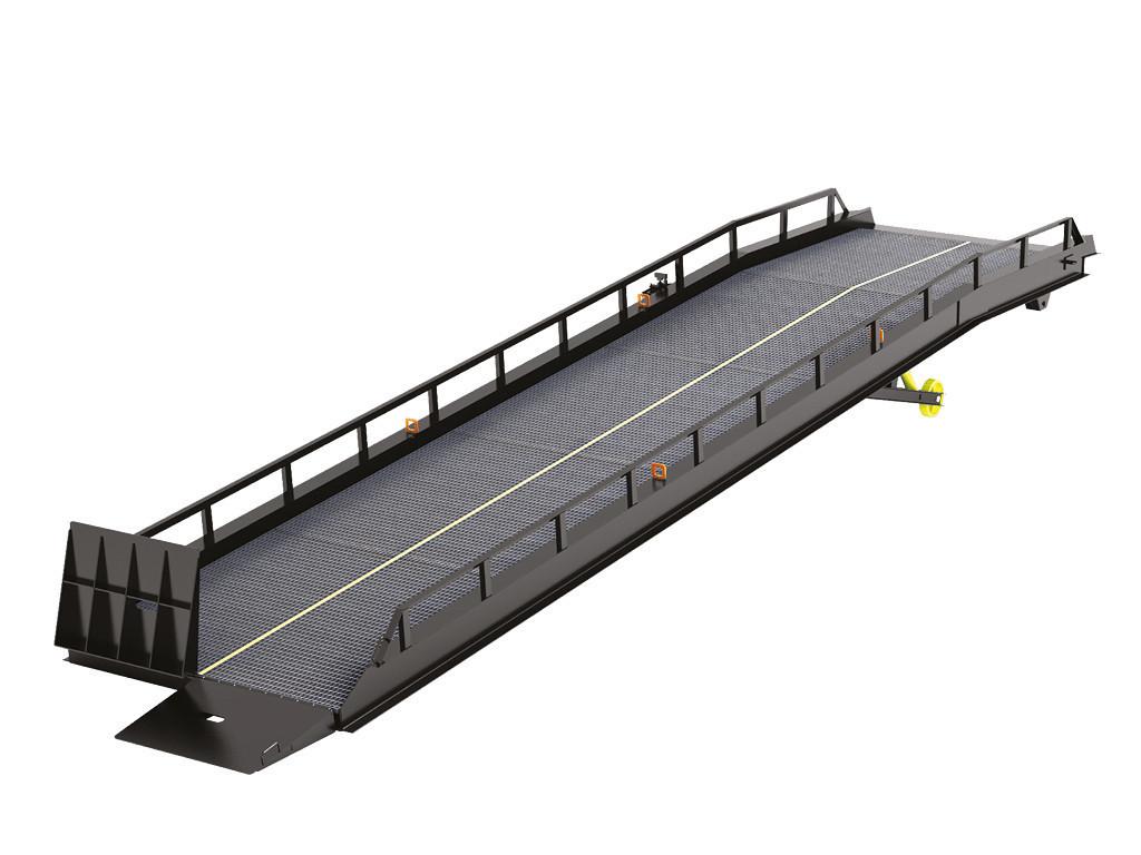 Мобильная рампа DoorHan RMTS с опорой на кузов автомобиля