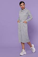 Жіноча сукня з ангори софт бордо, 46