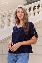 Легкая блуза в мелкий горошек, фото 3