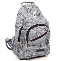 """Детский  рюкзак """"Dolly""""  украинского производства с джинсовым принтом , фото 1"""