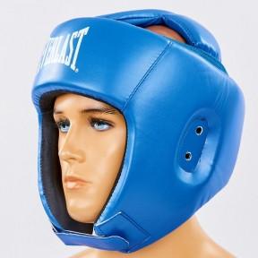 Шолом боксерський відкритий з посиленим захистом верхівки PU ELAST BO-8268-BL