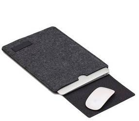 Чехол с ковриком для мыши MacBook Air / MacBook Pro. Темно-Серый /