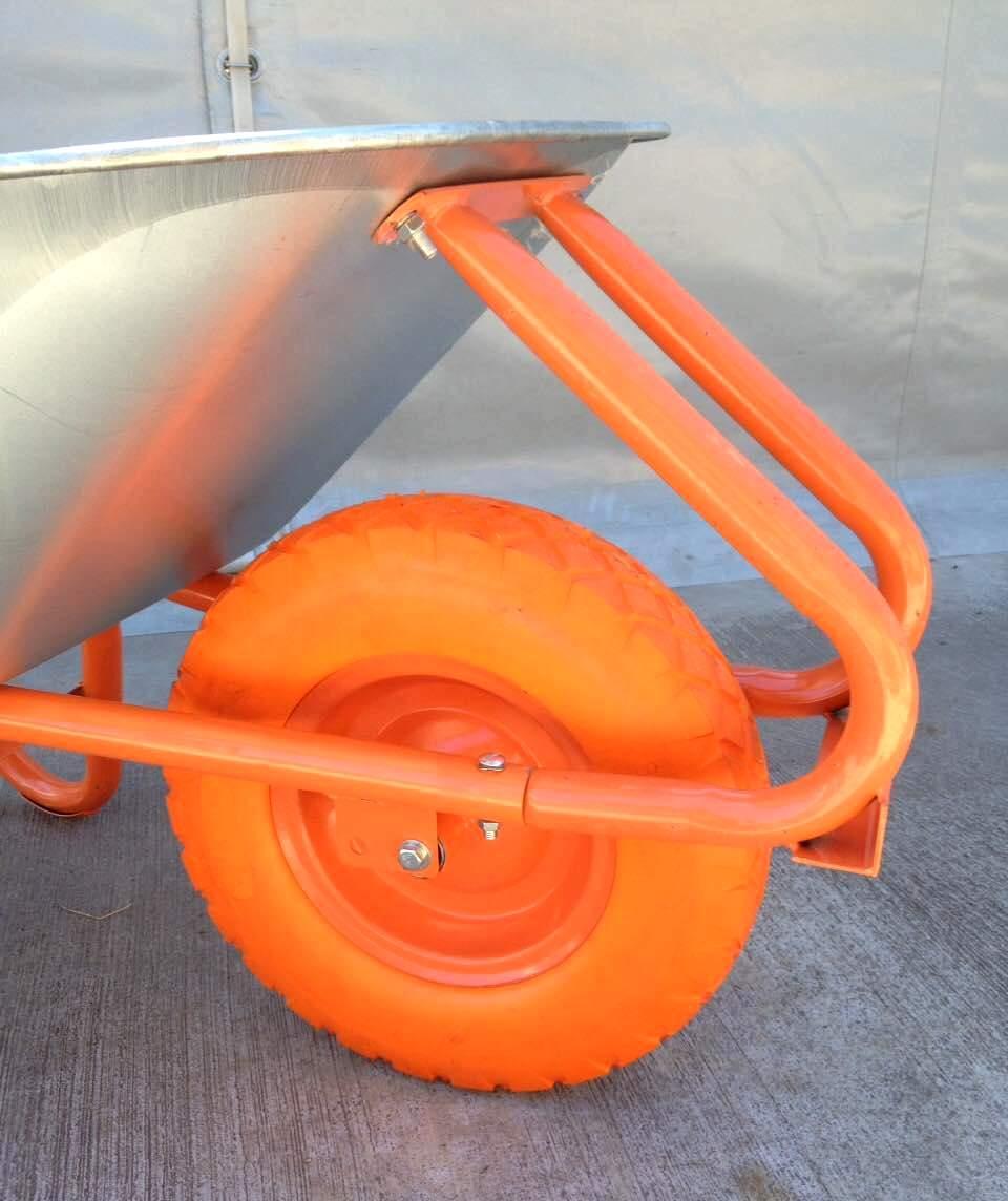 Тачка строительная 90л/180кг Одноколесная Полиуретановое  колесо 400 мм