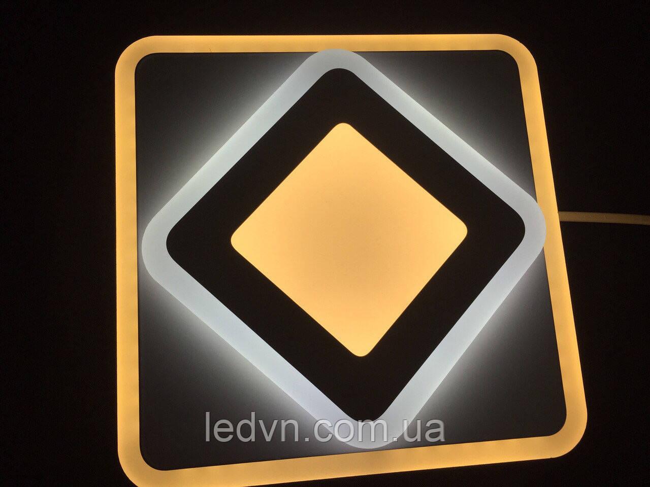 Потолочный квадратный светодиодный светильник