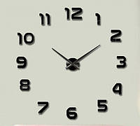 """Часы настенные 3D """"DIY"""" черные от 60 до 90 см (ZH521-B)"""