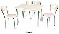 Стол раздвижной обеденный,набор, кухонный стол и 4 стула.