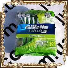 Станки для бритья Gillette Blue 3 Sense Care 12 шт./уп.