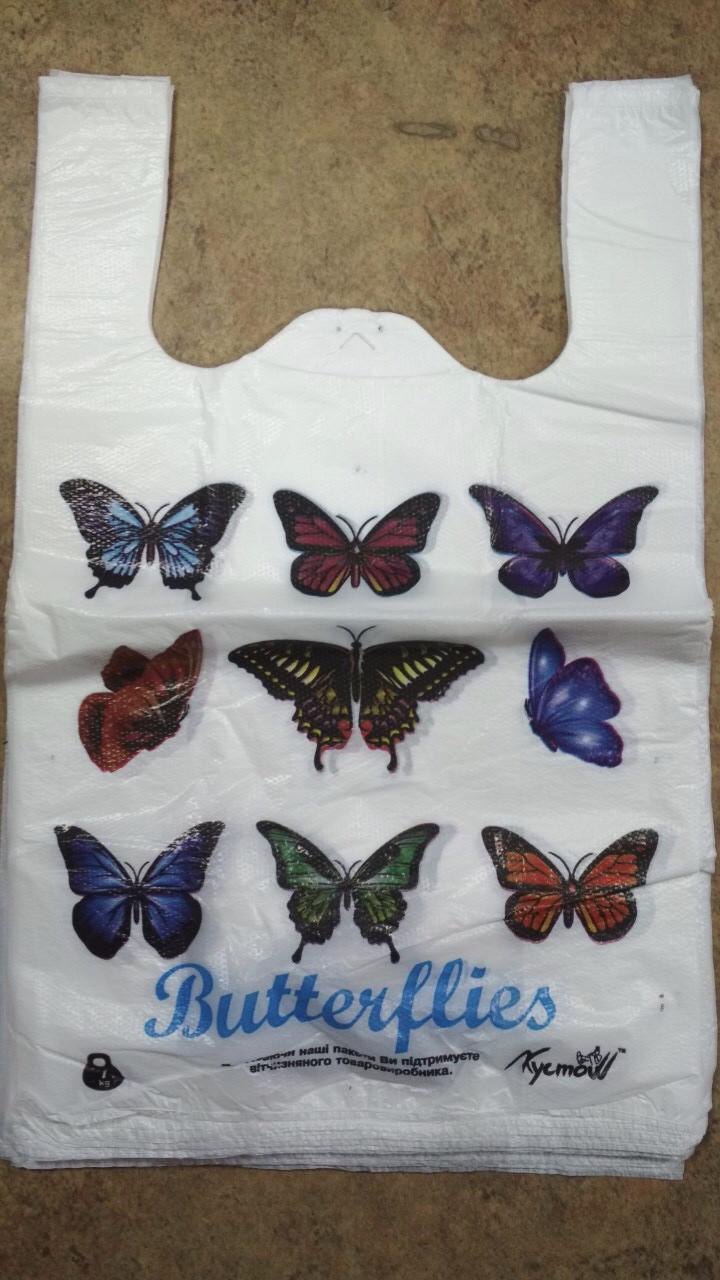 Пакет полиэтиленовый майка 300*400 мм Бабочка 250 шт