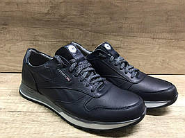 Синие мужские кроссовки из натуральной кожи ТМ EXTREM 1215/CR4/2458