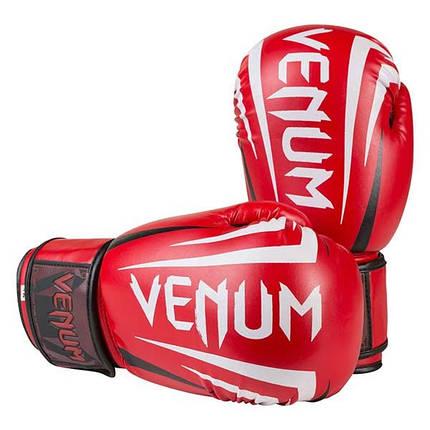 Перчатки боксерские Venum красные DX VM2145-8R, фото 2
