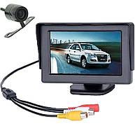 КОМПЛЕКТ монитор 4,3 + камера заднего вида бабочка для авто машины