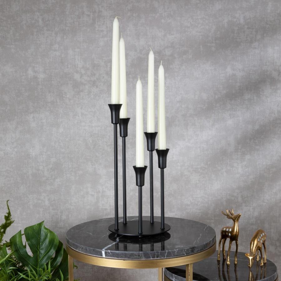 Подсвечник Doreline черный на 5 свечей