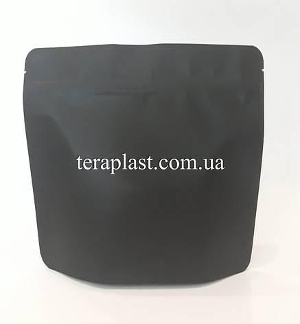 Дой-Пак 300г черный 200х190х36 зип с тактильным лаком, фото 2