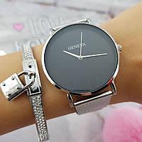 Женские часы Geneva Classic steel watch серебряные, жіночий наручний годинник, наручные кварцевые часы Женева