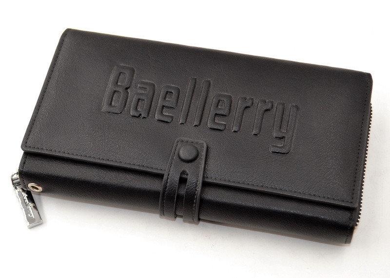 Новый мужское портмоне клатч кошелёк Baellerry Guero Байлерри S1393, цвет черный