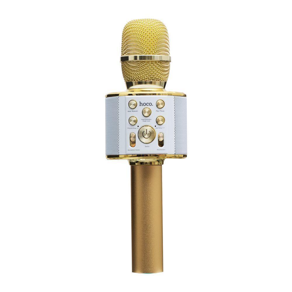 Микрофон-Колонка Hoco BK3 Cool Цвет Золотой