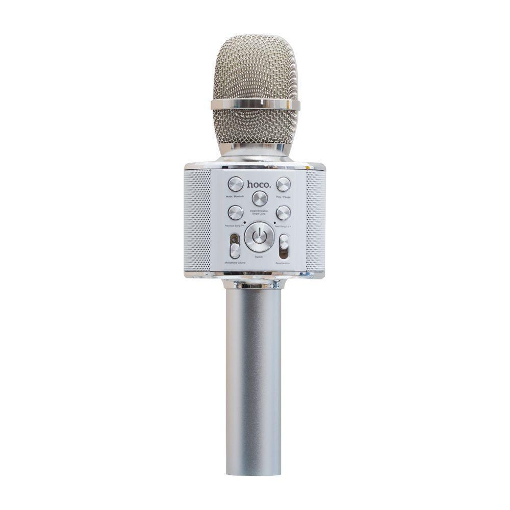 Микрофон-Колонка Hoco BK3 Cool Цвет Стальной
