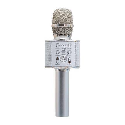 Микрофон-Колонка Hoco BK3 Cool Цвет Стальной, фото 2