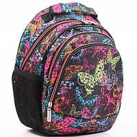 """Подростковый  рюкзак """"Dolly""""  для школы с ярким принтом, фото 1"""