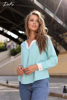Блузка с V-образным вырезом, фото 2
