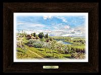 """Картина класична """"Україна"""" Хутір з яблуневим цвітом"""""""