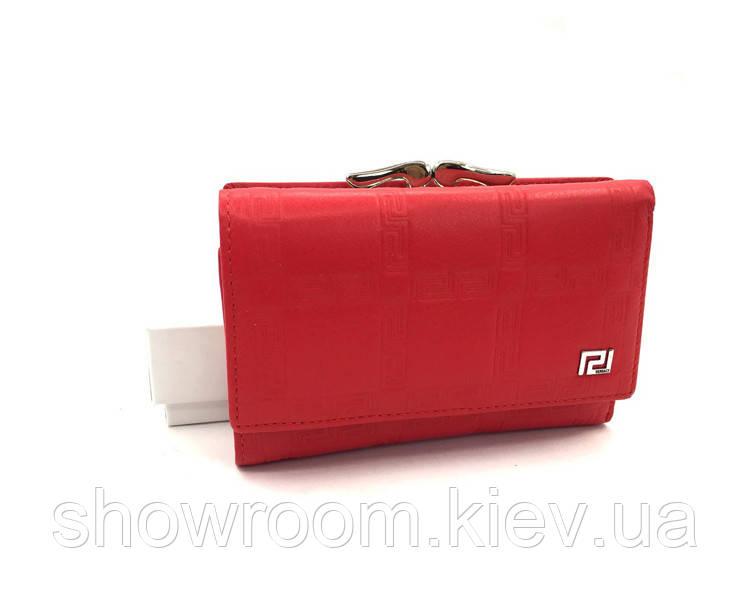 Женский компактный кошелек в стиле Versace (V-3804) red