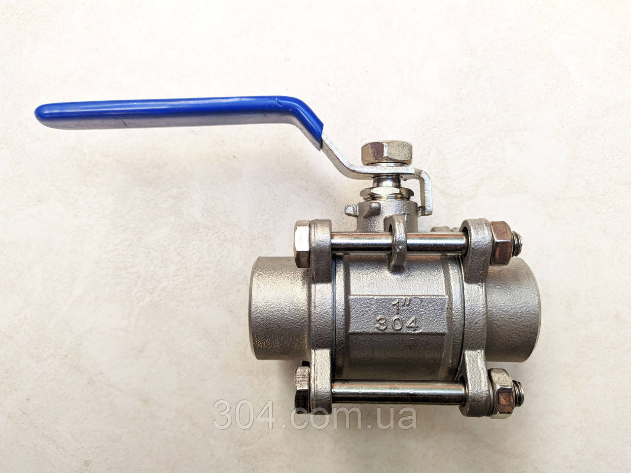 Шаровой кран нержавеющий 3-х составной, под приварку Ду 15 AISI 304
