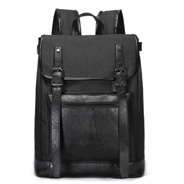 Черный рюкзак из холста