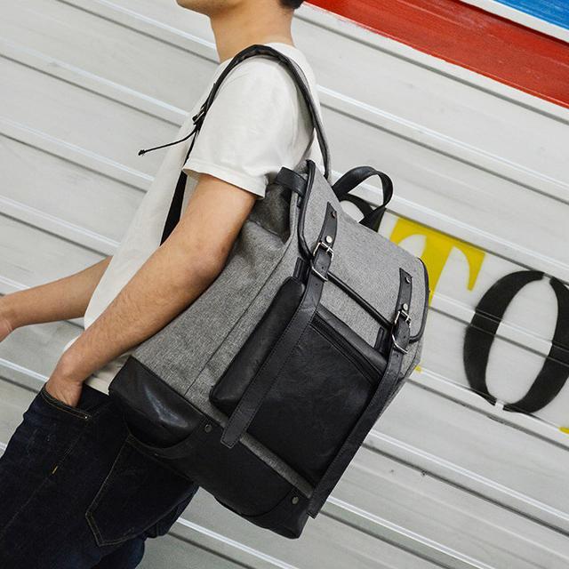 Серый рюкзак для парня