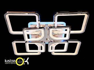 Люстра светодиодная припотолочная Led люстра 8060/4+4HR LED 3color dimmer