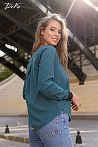 Свободная блузка с контрастными вставками, фото 3