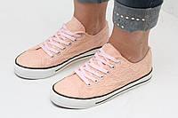 Кеды женские в стиле Converse персиковые 36 размер, фото 1