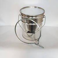 Ведро металлическое 20 л крышкой под обжимное кольцо для химической итехнической продукции