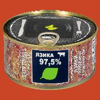 Язики Яловичі у власному соку 325г