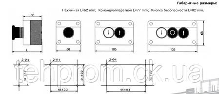 Пост кнопочный XAL-D134H29, фото 2