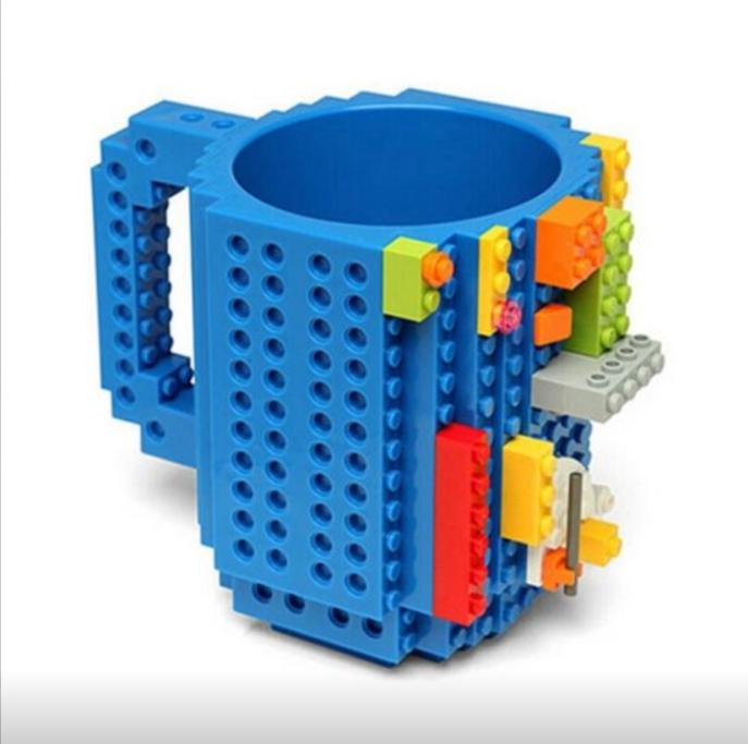 Кружка Lego 350мл Blue top-791 (конструктор не входит в комплект)