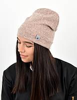 "Подростковая шапка ""Ангора меланж"" двойная пудра, фото 1"