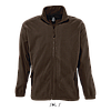 Мужская флисовая куртка NORTH MEN, черный шоколад, SOLS, размеры от XS до 3XL, фото 2