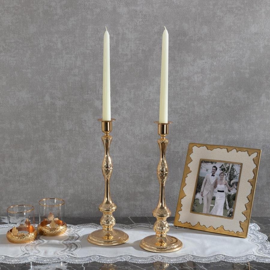 Подсвечник Doreline золотистый на 1 свечу