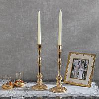 Подсвечник Doreline золотистый на 1 свечу, фото 1