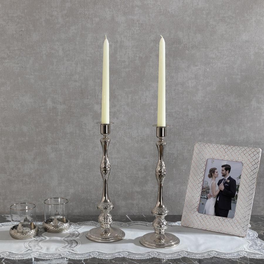 Подсвечник Doreline серебристый на 1 свечу